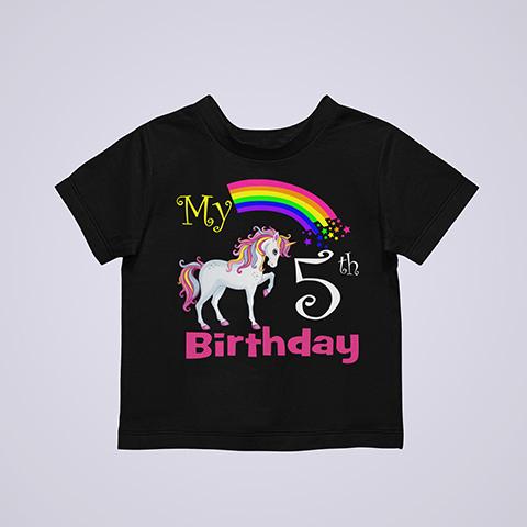 Birthday-Unicorn-Shirts-Black