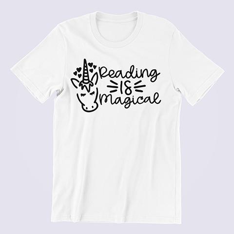 Reading-is-Magical-Unicorn-T-shirt-white