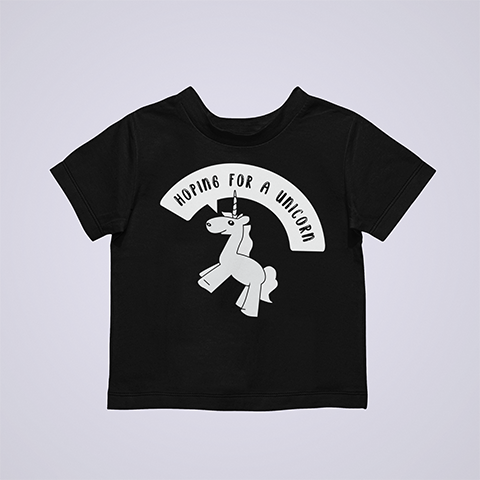Hoping-For-A-Unicorn-Funny-Pregnant-Shirt-black