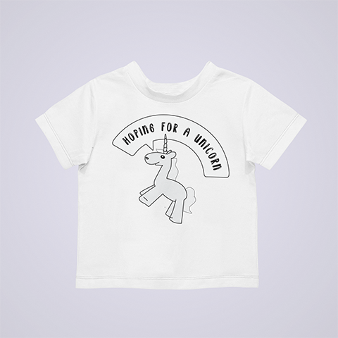 Hoping-For-A-Unicorn-Funny-Pregnant-Shirt-white