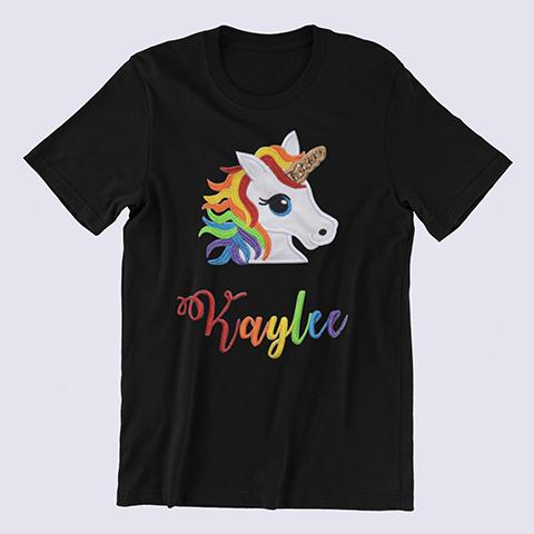 Personalized-Rainbow-Unicorn-Shirt-black
