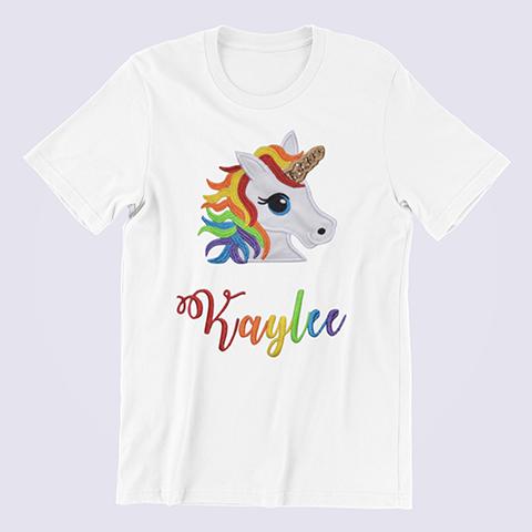 Personalized-Rainbow-Unicorn-Shirt-white